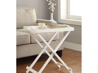 Folding Tray Table White   Johar Furniture