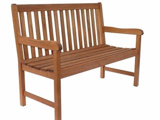 Amazonia Milano Patio Bench 4 Feet Eucalyptus Wood Ideal for Outdoors and Indoors