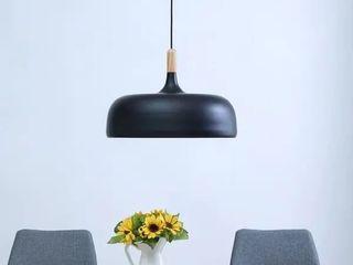 Strick   Bolton Modern Black Pendant light