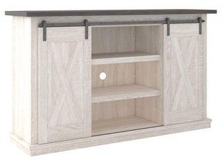Dorrinson Casual Medium TV Stand  White Brown  Retail 251 49
