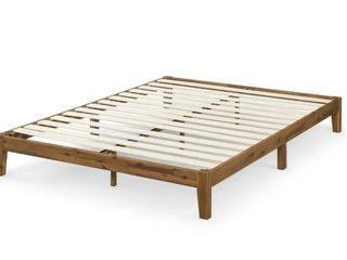 Carson Carrington Hjalta 10 inch Wood King Platform Bed   Retail 201 00