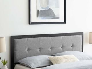 Teagan Tufted King Headboard  light Grey