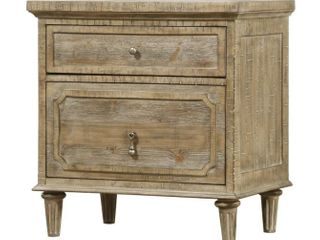 Copper Grove Hollabrunn Rustic Grey 2 drawer Nightstand  Retail 299 99  Damaged  See Pictures