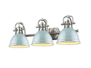 Golden lighting Pewter Seafoam Duncan Bath Vanity light  Retail 208 00