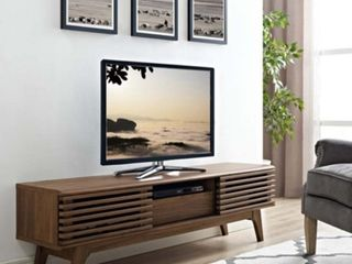 Render TV Stand Walnut   Modway