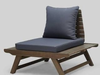 Sedona Outdoor Mid Century Tufted Accent Arm Chair by Christopher Knight Home  Retail 419 99