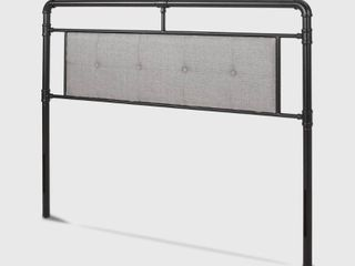 Cressy Modern Industrial Pipe Upholstered Queen Headboard by Christopher Knight Home  Retail 163 99  Tiny Dent On Top