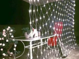 96 lED Net Grid String light Decorate Garden Fairy light  Holiday light US Plug  Set Of 2