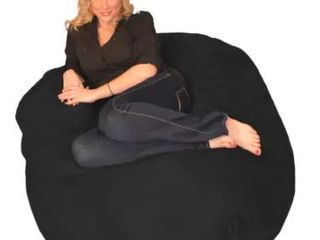 Porch  amp  Den 4 ft  Memory Foam Bean Bag Chair  Retail 119 99