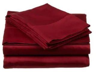 Superior Egyptian Cotton 400 Thread Count Solid Sateen Queen Bed Sheet Set