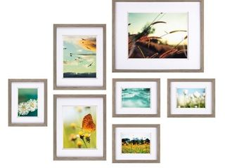 7pc Build A Gallery Wall Photo Frame Set with Decorative Art Prints  Retail 99 98