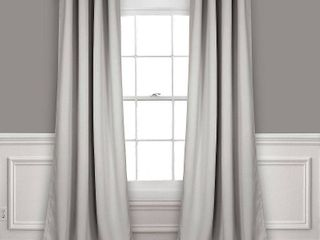 lush Decor Insulated Grommet Blackout light Grey Curtain Panel Pair