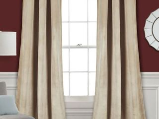 Porch  amp  Den lapeyrous Velvet Solid Room Darkening Window Curtain Panel Pair  Wheat Color