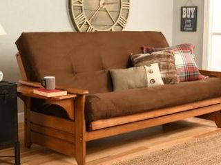 Copper Grove Dixie Espresso Full size Innerspring Suede Futon with Mattress Included  Retail 508 99