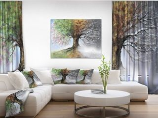Tree with Four Seasons   Tree Painting Canvas Art Print  Retail 156 99