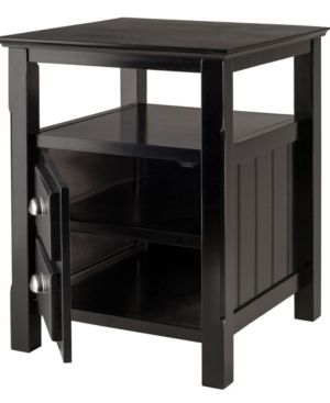 Timber Nightstand Black   Winsome