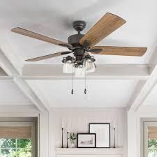 The Gray Barn Wildroot Farmhouse 52 inch Aged Bronze lED Ceiling Fan  Retail 135 49