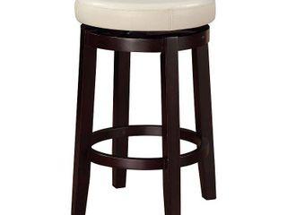 linon Dorothy Backless Counter Stool Rice Swivel Seat