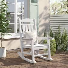 polywood presidential rocking chair  white