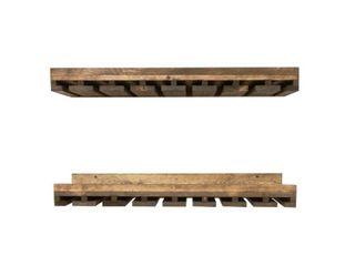 Del Hutson Designs Rustic luxe Stemware Shelf Set  36  Retail 92 99