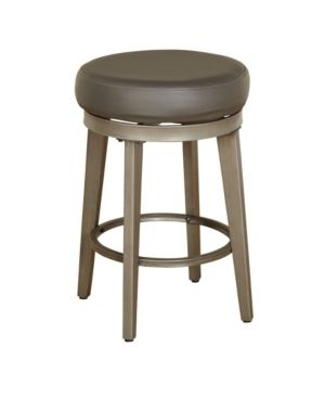 angelo HOME linden Brushed Grey leather Swivel Stool  Set of 2    Retail 178 49
