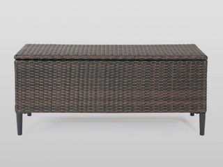 Rupert Outdoor Wicker Storage Unit by Christopher Knight Home  Retail 178 49