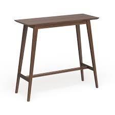 Carson Carrington Viborg Walnut Finish Wood Bar Table  Retail 138 49