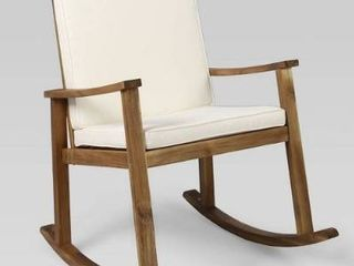 Candel Outdoor Acacia Wood Rocking Chair by Christopher Knight Home  Retail 308 49