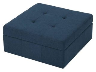 Chatsworth Contemporary Tufted Fabric Storage Ottoman with Rolling Casters by Christopher Knight Home  Retail 165 49
