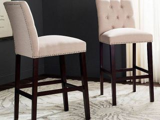 Set of 2 Counter and Barstools Beige   Safavieh