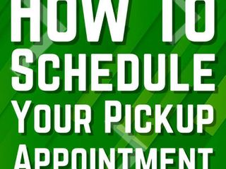 How to schedule your pick up your pick up