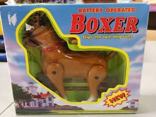 90s Rare Vintage Boxer Dog Battery Operated Moving 1999 Funmax Toys In Box