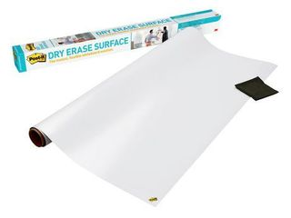 Post it Flexible Dry Erase Surface with Adhesive Backing  48  x 36    White