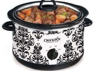 Crock Pot Patterned Slow Cooker 4 5 qt