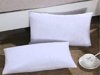 Homelike Moment Down Feather Throw Pillow Insert 12X20 Couch Pillow Inserts Set of 2 100  Cotton Fabric
