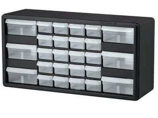 Akro Mils 26 Drawer Plastic Parts Storage Hardware and Craft Cabinet  20 Inch by 10 Inch by 6 1 2 Inch  Black