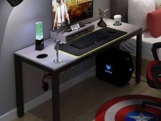 Need Gaming Desk All in one Gaming Computer Desk with RGB lED Soft Gaming Mouse Pad 60  length for Big Guys AC14lB Pro