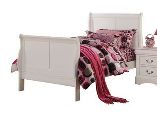 ACME Furniture 24515T louis Philippe III Bed  Twin  White HEADBOARD AND FOOTBOARD ONlY