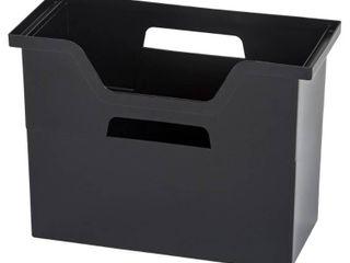 IRIS Desktop File Box  6 Pack  Medium  Black