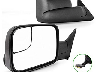 SCITOO Compatible fit for Towing Mirrors 1994 1995 1996 1997 for Dodge for Ram 1500 2500 3500 Truck Black Power Operation Pair Set Mirrors   Not Inspected