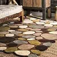 nulOOM Pebbles Hand Tufted Wool Rug  5  x 8  Brown