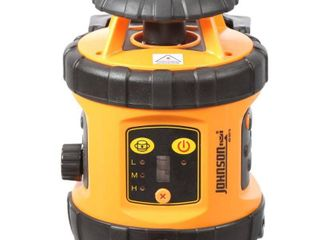 Johnson level and Tool Self leveling Rotary laser level  Part   49 6515  With Tripod  13  Grade Rod  Rotary Detector