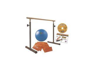 GoFit Portable  Adjustable  Ballet Bar Set GoBarre Set Includes Resistance Bands and Core Ab Ball