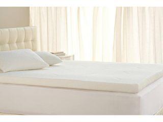 Tempur Pedic TEMPUR Supreme 3 Inch Mattress Topper  Medium Firm  Queen  White
