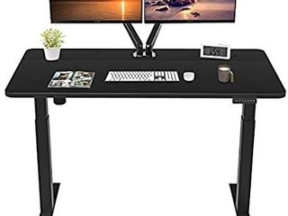 MAIDeSITe Standing Desk Adjustable Height Computer Desk  47 x 24 Inches Electric Stand Up Desk Workstation with Memory Preset Controller  Black