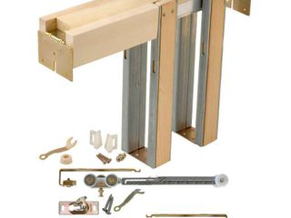 Johnson Hardware Soft Close and Open 1500 Series 28 in  to 36 in  x 80 in  Universal Pocket Door Frame for 2x4 Stud Wall  Unfinished