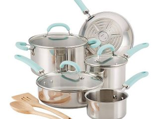 Rachael Ray Create Delicious Stainless Steel 10 Pc  Cookware Set   Not Inspected