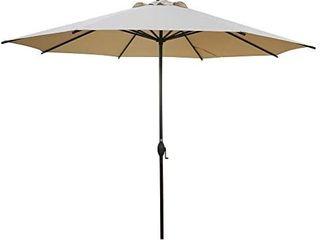 Abba Patio 11 Feet Patio Umbrella Outdoor Table Umbrella with Push Button Tilt and Crank  RED