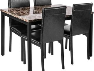 Faux Marble Dining table for Small Spaces  TABlE ONlY  NOT FUllY INSPECTED OUTSIDE BOX
