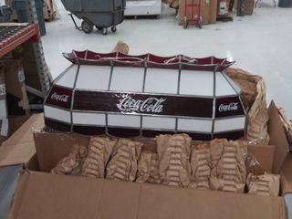 36  coca  cola hanging light  Damaged